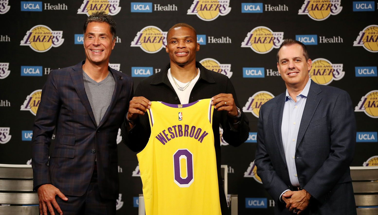 Russell Westbrook introduced by the Lakers